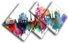 Moscow Watercolour  Abstract City - 13-6036(00B)-MP19-LO